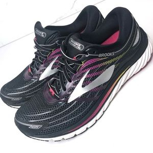 Brooks Glycerin 15 Black Pink Running Shoes 9.5